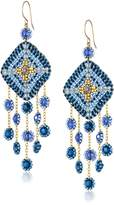 Miguel Ases Gold-Filled Multicolored Bead and Faux Gemstone Drop Earrings