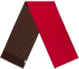 Gucci GG wool silk scarf