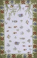 Momeni Rugs COASTCC-05LBL4060 Coastal Collection, 100% Cotton Hand Hooked Transitional Area Rug