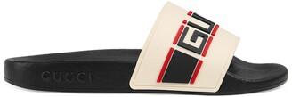 Gucci Children's stripe rubber slide sandal