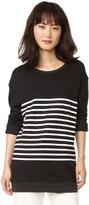 Sundry Stripes Pullover Sweatshirt