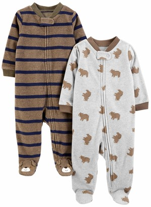 Carter's Simple Joys by 2-pack Fleece Footed Sleep and Play Sleepers