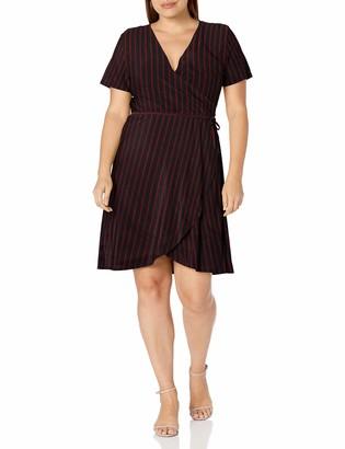 Star Vixen Women's Ss Ballerina Wrap Dress