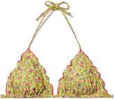 Salinas Isa Ambra Triangle Bikini Top in Yellow/Multi