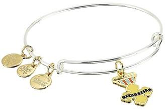 Alex and Ani Wizard of Oz, Courage Bangle Bracelet, Two-Tone (Shiny Silver) Bracelet