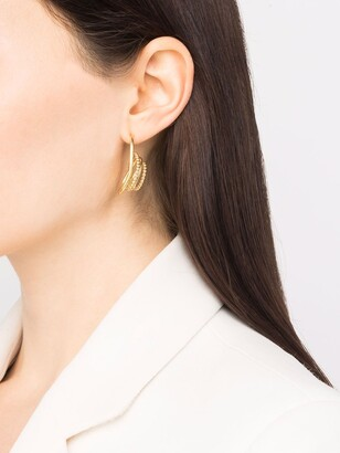 BONVO 18kt gold-plated silver Twisted Loop earrings