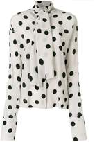 Natasha Zinko polka dot blouse