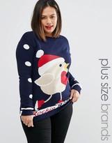 Club L Plus Rockin Robin Holidays Sweater