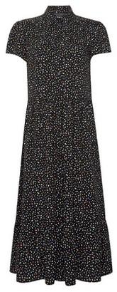 Dorothy Perkins Womens Black Spot Print Shirt Dress, Black