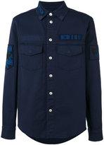 Valentino military patch shirt - men - Cotton - 46