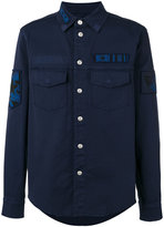 Valentino military patch shirt - men - Cotton - 48