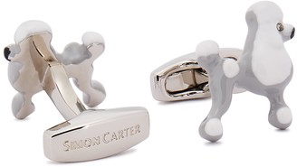Simon Carter Silver-tone Poodle Cufflinks