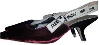 Christian Dior J'adior Burgundy Velvet Heels