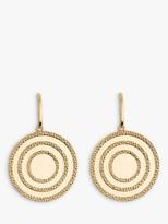 Emily Mortimer Jewellery Echo Textured Disc Drop Earrings