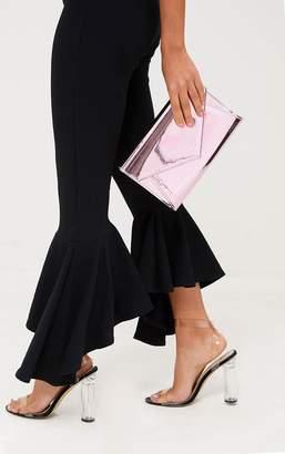 PrettyLittleThing Pink Metallic Chain Cross Body Bag