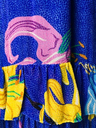 La DoubleJ Floral Print Strap Dress