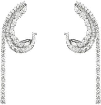 YEPREM White Gold Drop Ear Cuffs