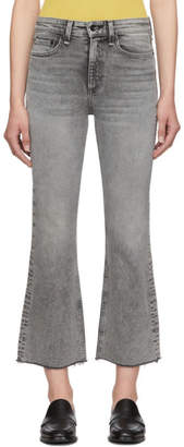 Rag & Bone Black Nina High-Rise Ankle Flare Jeans