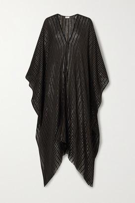 Saint Laurent Metallic Striped Gauze Wrap - Black