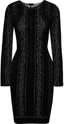 Herve Leger Jaye Chenille-jacquard Dress