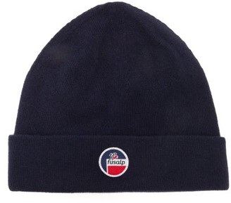 Fusalp Styx Logo-patch Wool-blend Beanie - Navy