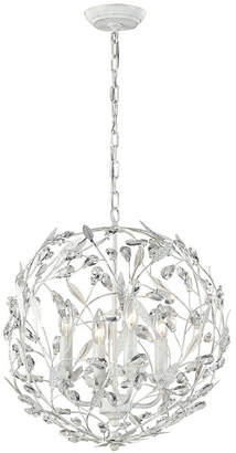 Circeo Collection 4 light pendant in Antique White