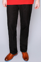 Yours Clothing Rockford Black Stretch Jeans - TALL