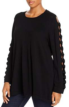Joseph A Plus Cutout-Sleeve Tunic Sweater