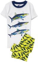 Crazy 8 Shark 2-Piece Shortie Pajama Set
