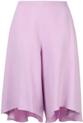 DELPOZO bias-cut shorts
