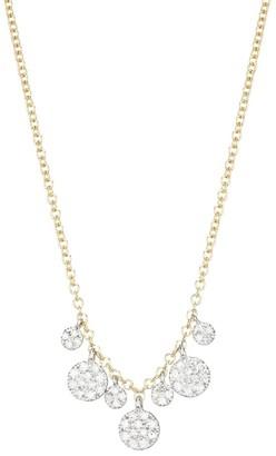 Meira T 14K Yellow Gold & Diamond Disc Charm Necklace