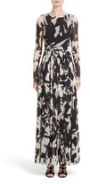 Fuzzi Women's Bicolor Floral Print Tulle Maxi Dress