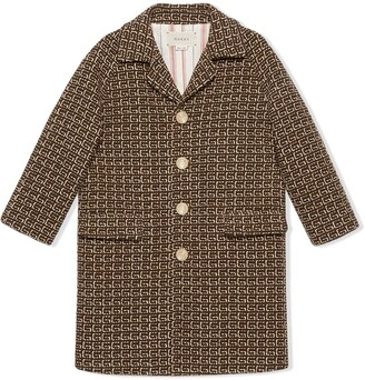 Gucci Kids Square G patterned coat