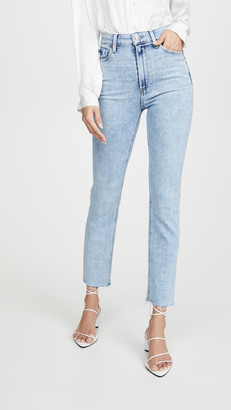 Paige Ultra High Rise Cindy Jeans With Raw Hem