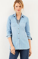 J. Jill Denim Curved-Hem Shirt