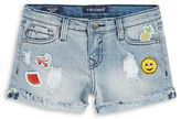 Vigoss Girls 7-16 Fringed and Distressed Patch Shorts
