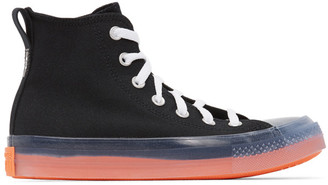Converse Black and Pink Chuck Taylor All Star Sneakers