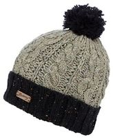 Mantaray Grey Cable Knit Beanie Hat