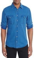 BOSS ORANGE Cadetto Denim Slim Fit Snap Front Shirt