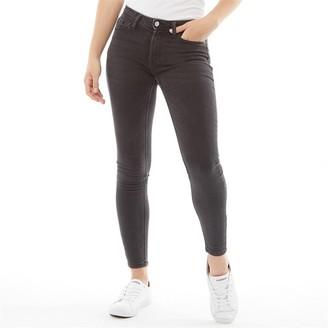 Jacqueline De Yong Womens Jake Life Skinny RW Denim Jeans Black