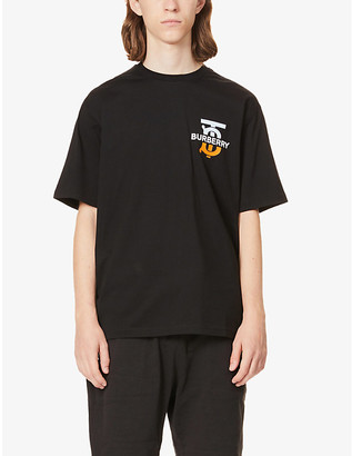 Burberry Ganther brand-print cotton-jersey T-shirt