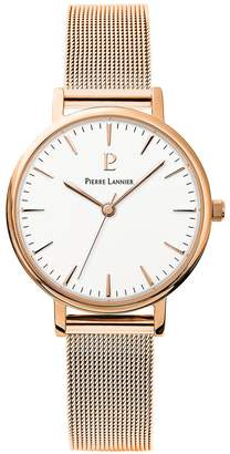 Pierre Lannier Womens Analogue Quartz Watch with Solid Stainless Steel Strap 091L918