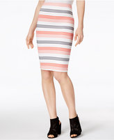 Bar III Striped Pencil Skirt, Created for Macy's