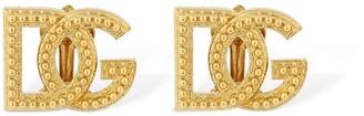 Dolce & Gabbana Logo Clip-On Stud Earrings