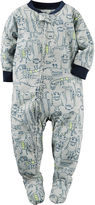 Carter's Boy Long-Sleeve Monster Footed Pajamas - Toddler Boys 2t-5t