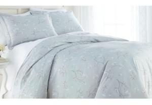 SouthShore Fine Linens Forget Me Not Cotton Reversible 3 Piece Duvet Cover Set, Full/Queen Bedding