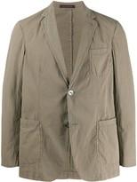 The Gigi crinkled single-breasted blazer