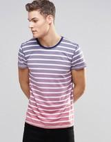Esprit Stripe Dip Dye T-Shirt