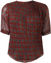 Etoile Isabel Marant sheer graphic print top - women - Silk/Viscose - 38
