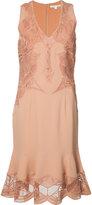 Jonathan Simkhai lace inserts dress - women - Polyester/Spandex/Elastane/Acetate/Viscose - 2